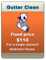 Gutter Clean Gutter Clean Gutter Clean Fixed price  $110  For a single storey/3 bedroom house.